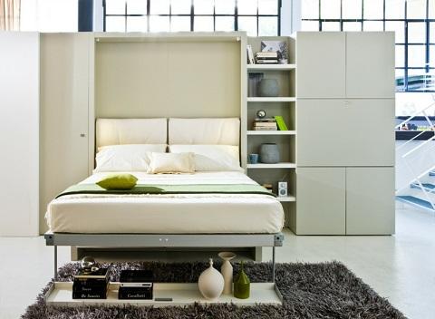 Camas para espacios peque os dormitorios colores y estilos - Camas para espacios pequenos ...