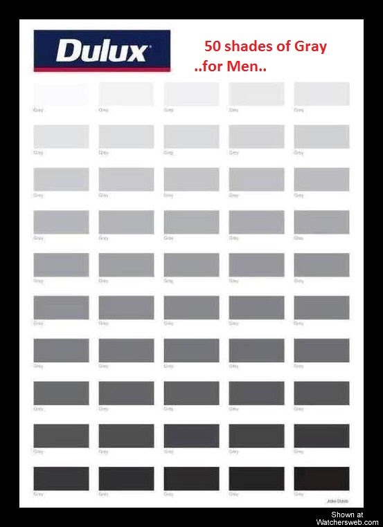 Salisbury news 50 shades of gray for men Different colours of grey paint