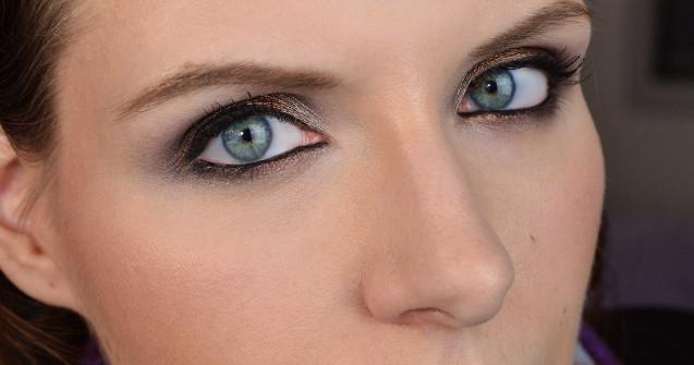 Manhattan Sparkling Nudes Eyeshadow Make Up Look
