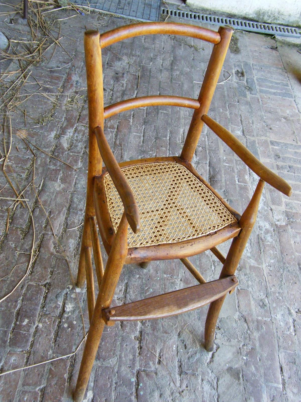 Normandie cannage une chaise d 39 enfant cann e de pacy sur eure - Transformer l assise d une chaise paillee ...