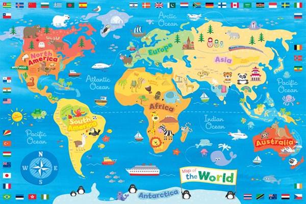 Gambar Peta Dunia Ulang Kwidik Wwwgambar