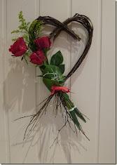 Kvisthjerte med roser