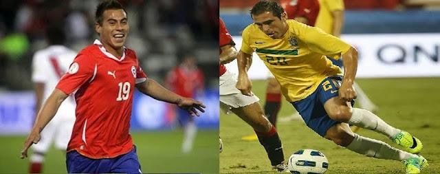 Vargas e Bruno César no Santos