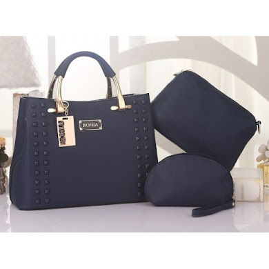 BONIA DESIGNER BAG - 3 IN 1 SET ( BLUE )