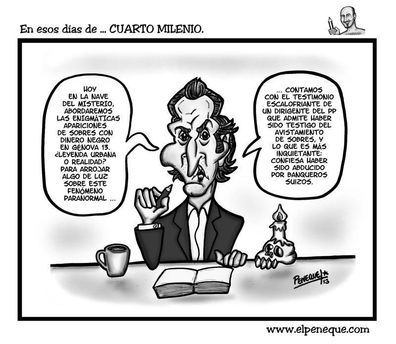 En esos días de ... CUARTO MILENIO | ELPENEQUE DIBUJO Y CARICATURAS