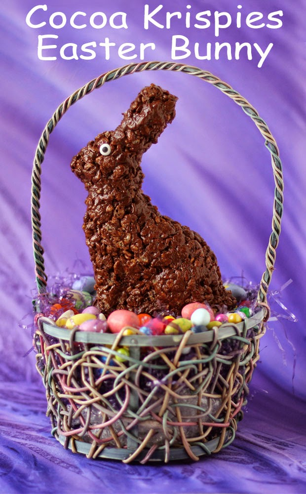 Cocoa Krispies Easter Bunny Treats | HungryHappenings.com