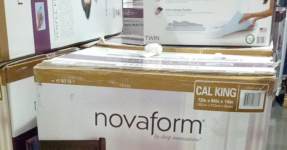 "Costco Novaform King Mattress Novaform Gel/Memory Foam 14"" CA/King Mattress | Costco Weekender"