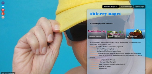 thierry roget casquette jaune