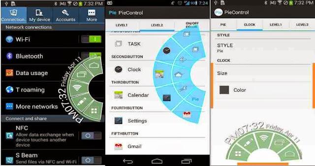 Pie control root app