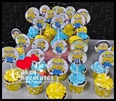 Cupcakes-Minion topper