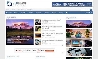 Seo Best - Blog Template Responsive untuk Majalah Berita