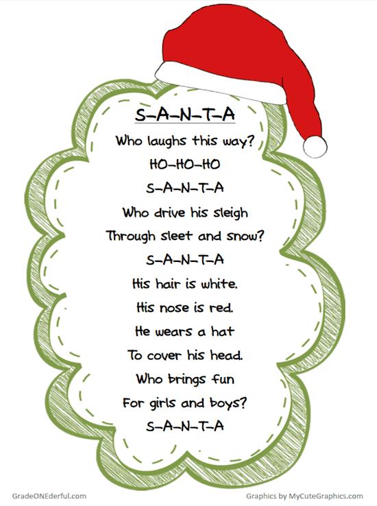 Santa Poem Freebie