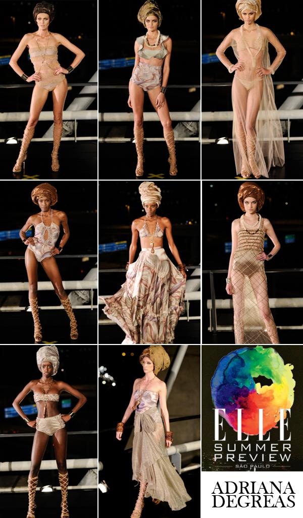 O desfile da Adriana Degreas no Elle Summer Preview!