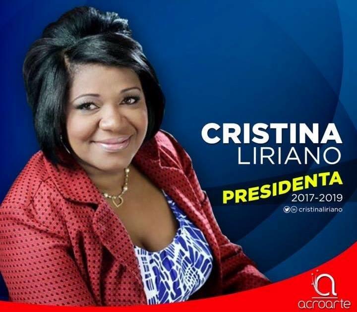 Periodista Cristina Liriano, presidenta de Acroarte, 2017-2019.