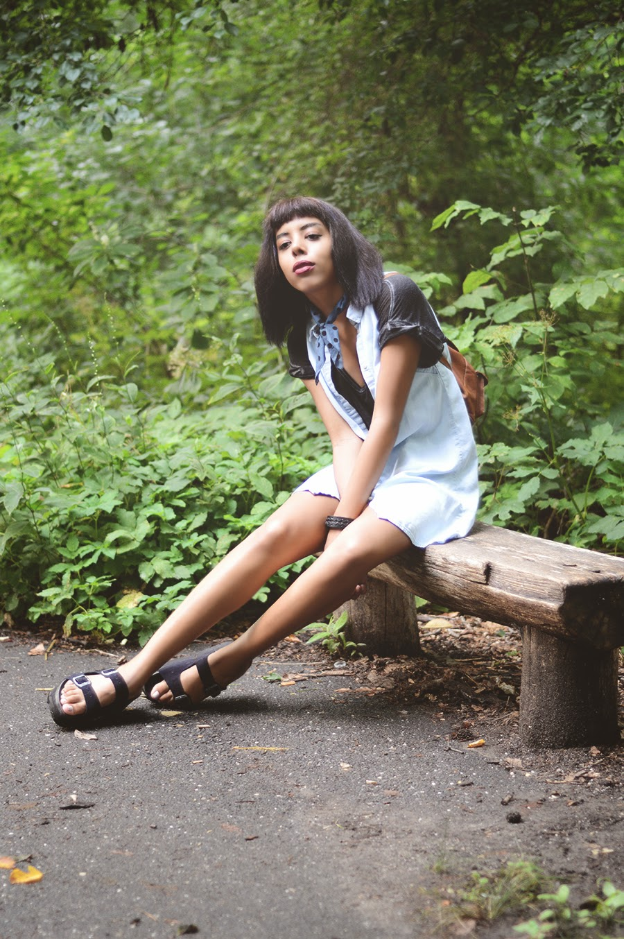 Indie Fashion Blogger Anais Alexandre of Down to Stars is a new age alternative robin hood frolicking in the forest wearing jeffrey campbell, free people and madewell