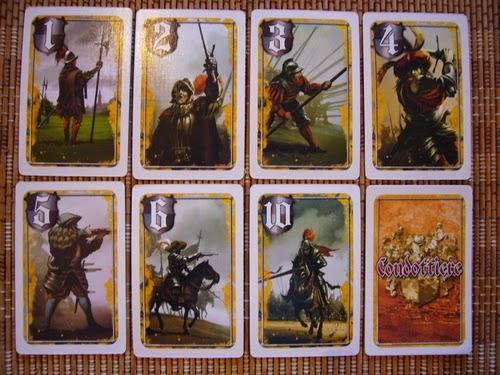 Cartas de mercenario de Condottiere