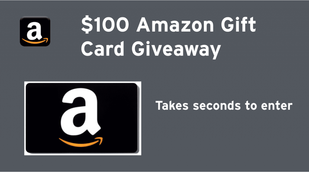 Amazon Gift Card Giveaway!