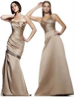 imagens de modelos de vestidos bege