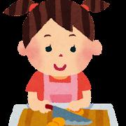 料理のイラスト「女の子」
