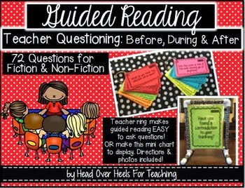 http://www.teacherspayteachers.com/Product/Guided-Reading-Questions-For-Fiction-Non-Fiction-Before-During-After-1290290