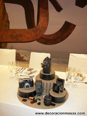 fiesta 60 cumpleaños centro mesa fotografia