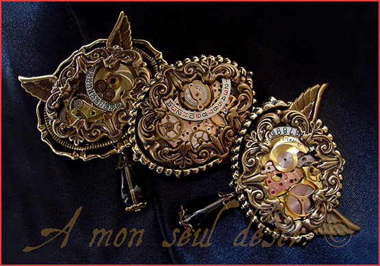 Broche Steampunk Mouvement de Montre Mécanique Mécanisme Bijouterie Steampunk Jewellery Brooch