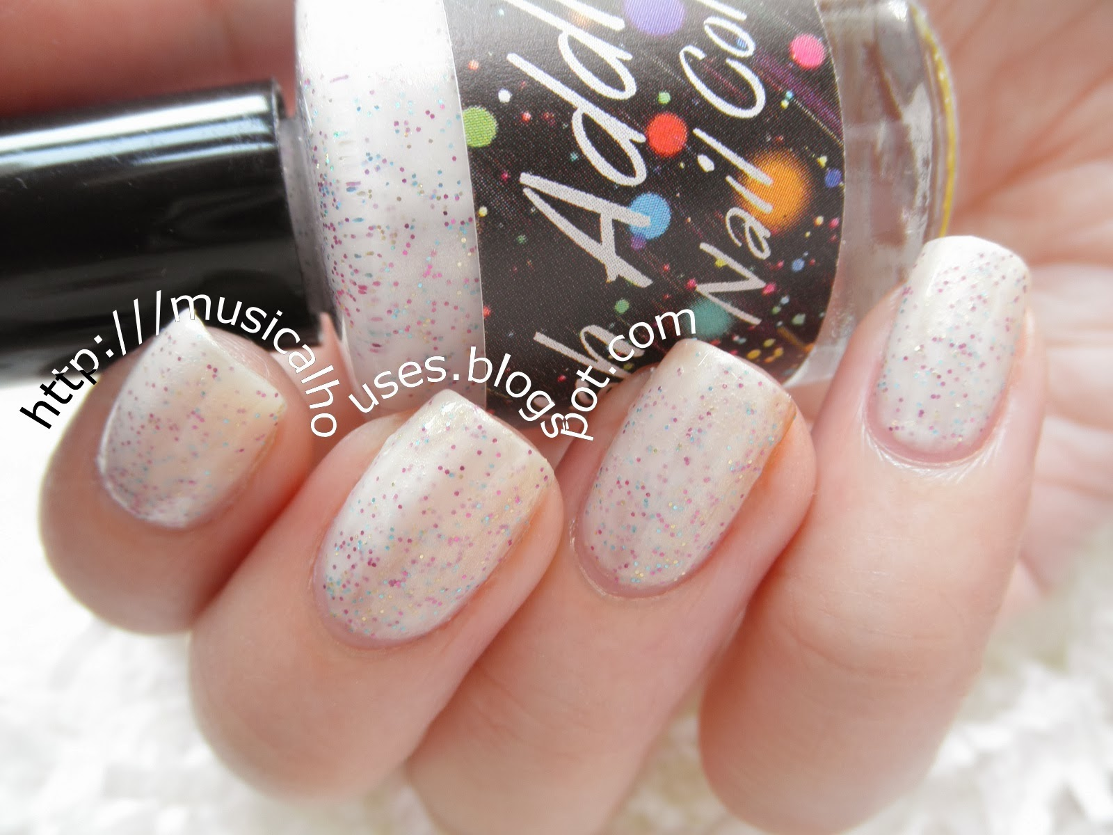 Polish Addict Nail Color Jellyfish I: Like Glitter and Snow (and ...