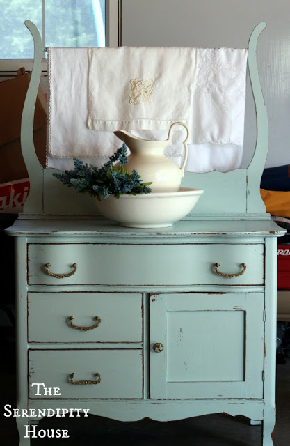 Cottage Instincts has a new upcycled refurbished piece of vintage furniture…painted  in the dreamiest of colors and her name is Daisy. - Upcycled Creations A Junkin Joe Feature Post Plus A Linky Party