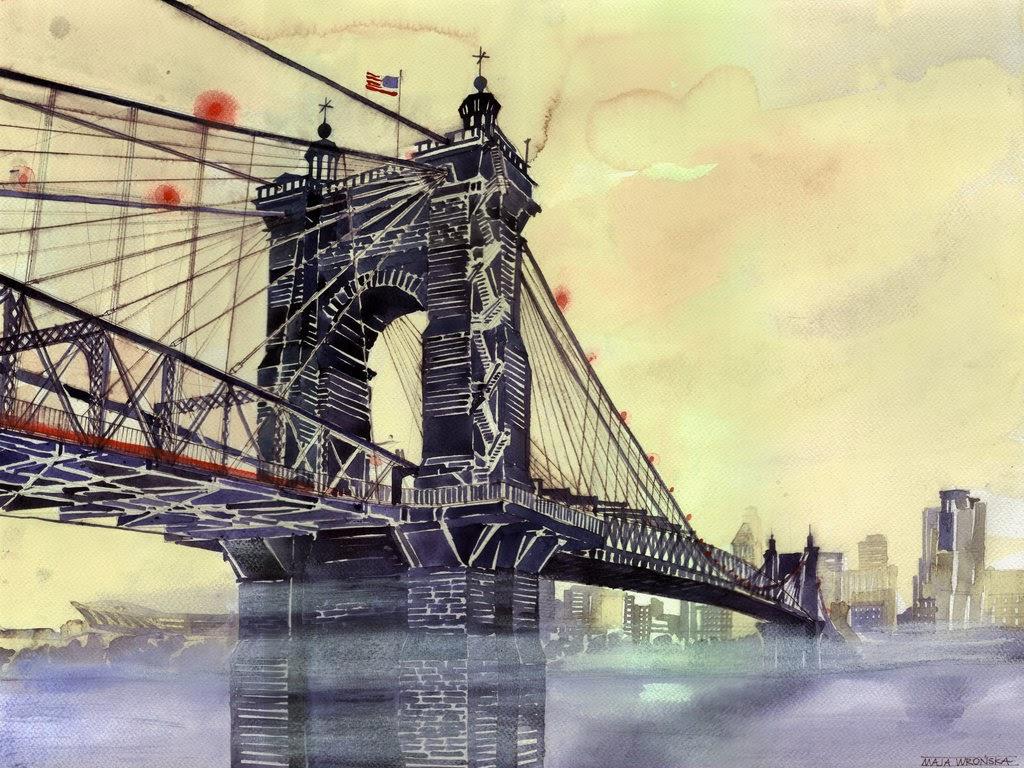 07-Cincinnati-Maja-Wronska-Travels-Architecture-Paintings-www-designstack-co