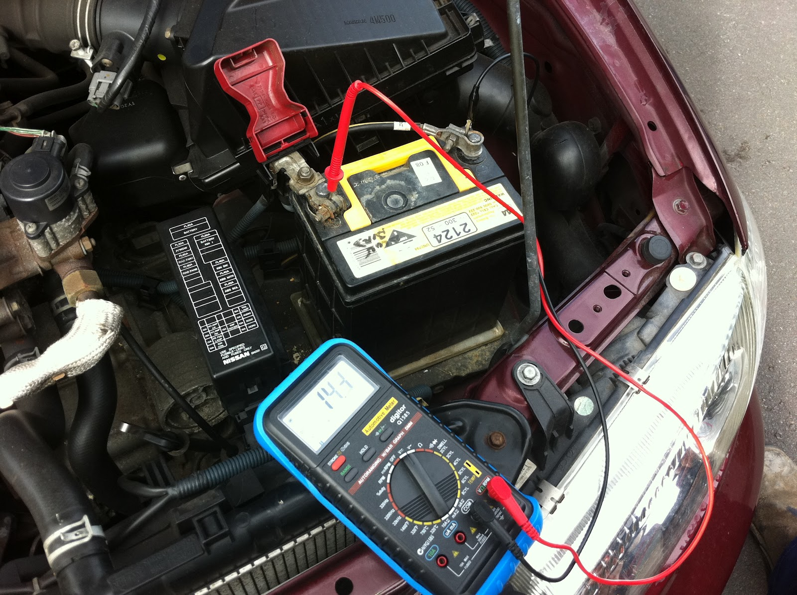 Multimeter Certificate In Applied Technology Automotive Engineering Car Wiring To The Right Is A Diagram Showing How Measure Amps