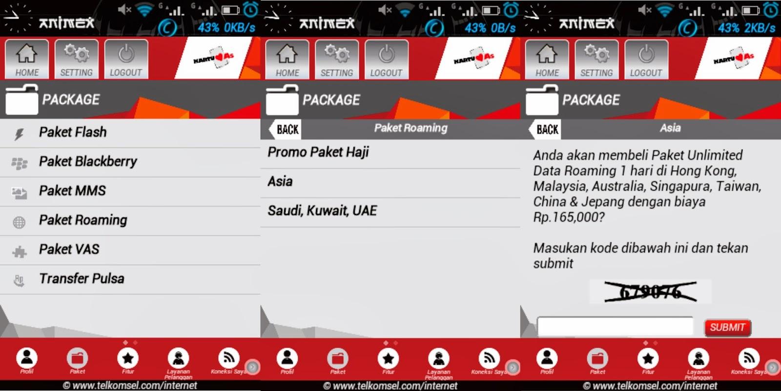 Cara Membeli Paket Roaming Lewat Aplikasi My Telkomsel It S Amazing