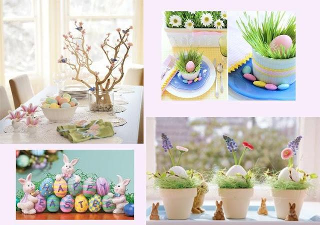 Ideias de decoração de páscoa.