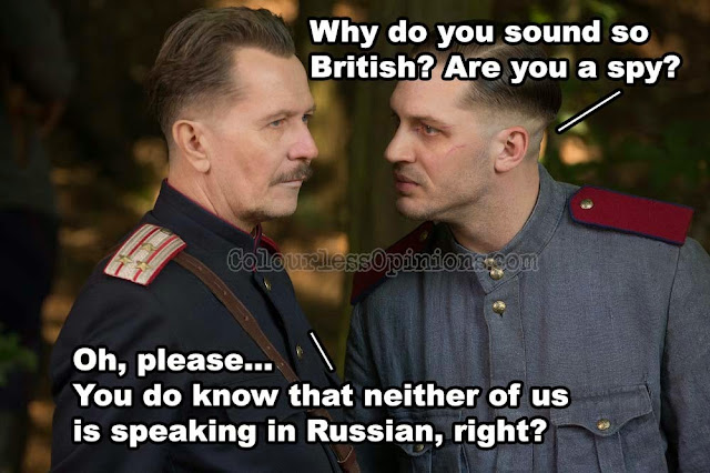 Child 44 meme still Gary Oldman tom hardy