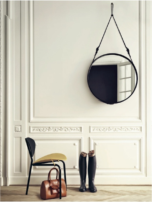 Lustro na pasku fotobloo g wn trza design diy for Casa miroir rond