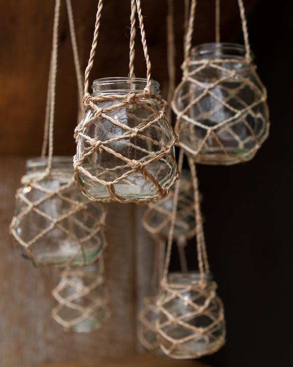 Aparador Zara Home ~ Tend u00eancia Artesanatos Macramé com vidros de conserva