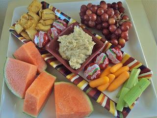 Rosemary Hummus & snack platter
