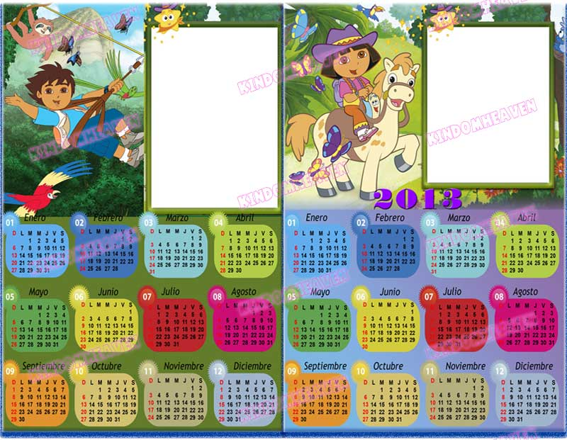 calendarios psd png 2013 photoshop wendy infantiles