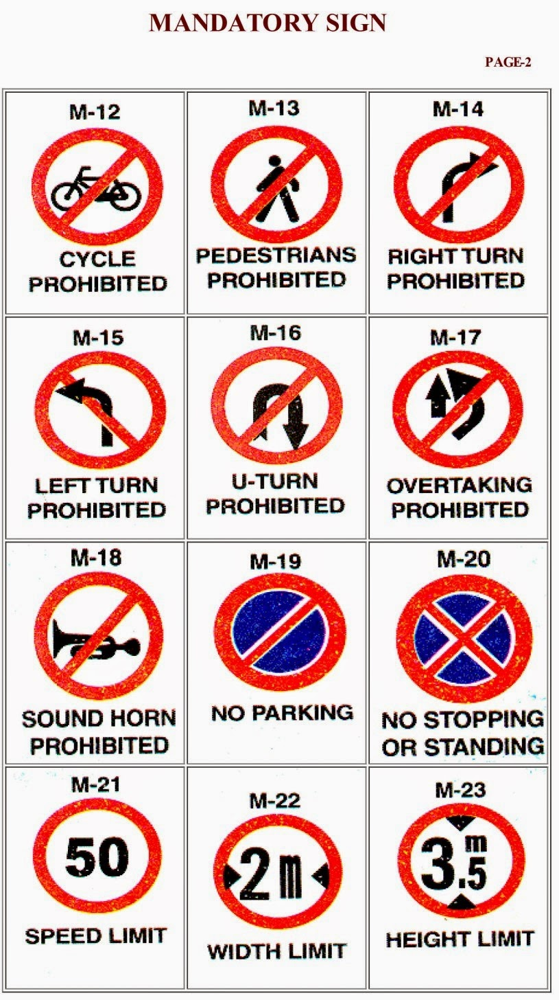 Rto Learners Licence Traffic Signs What When Why How