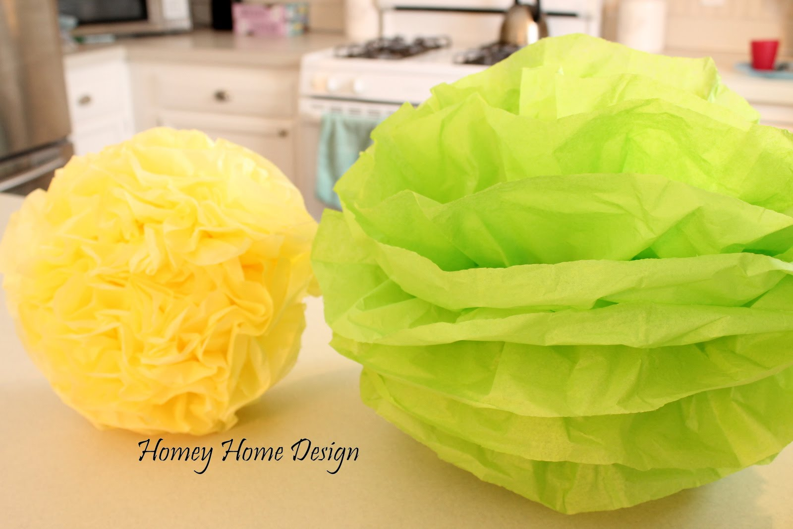 Homey Home Design Tissue Paper Puff Balls