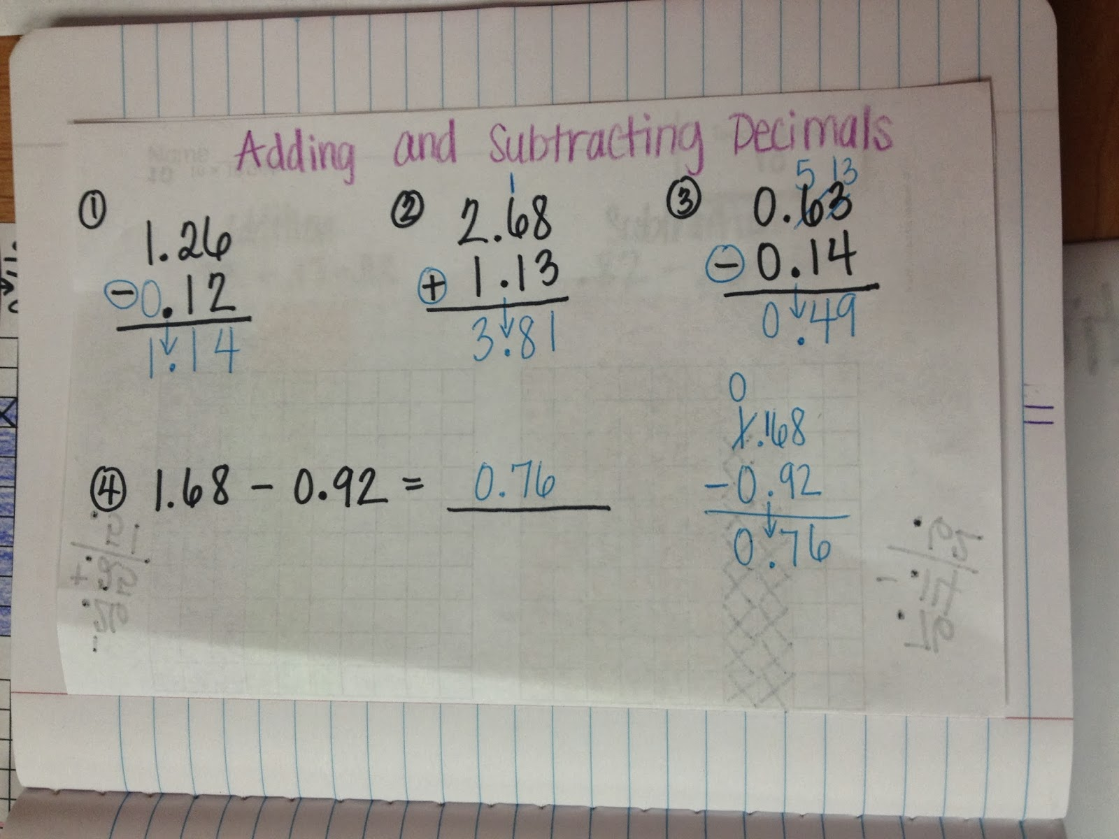 ms. cao's 4th grade math: subtracting across zeros & adding and