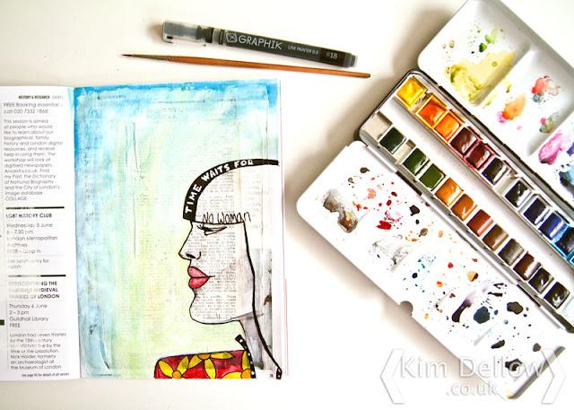 Kim Dellow A profile of a female face