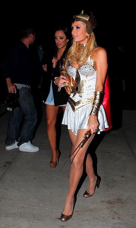 Paris Hilton at Halloween Party in Los Angeles