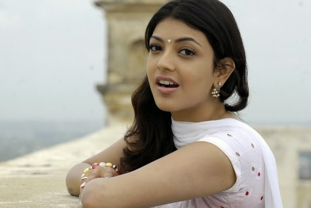 cute kajal agarwal wide latest wallpapers in white dress