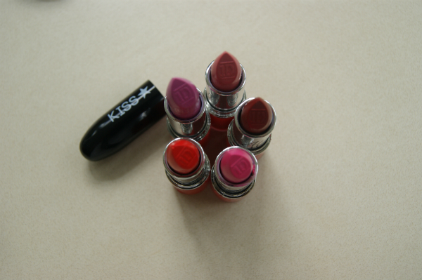 One Direction Lipsticks I Wish, Rock Me, Moments, Be Mine, I Want Swatches