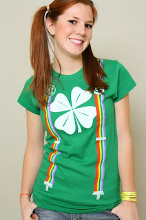 rainbow suspenders saint patrick's day t-shirt