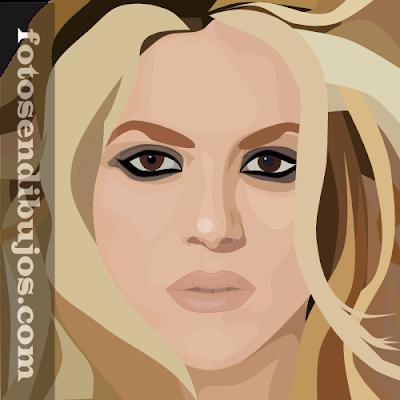 retrato de Shakira