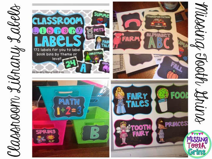 Make your classroom library pop with these bright colors! The labels are editable too!