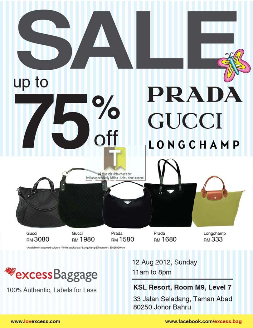 Prada Gucci Longchamp Bags Sale: 12 AUG 2012