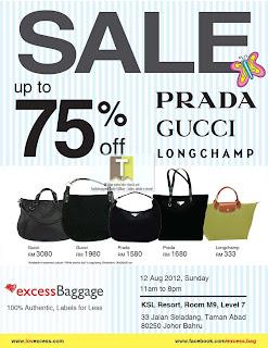 Prada Gucci Longchamp Bags Sale 2012