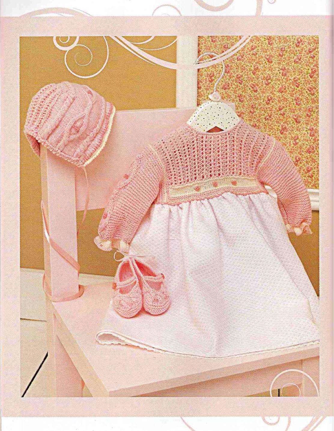 Lujoso Patrones De Vestidos De Ganchillo Para Bebés Fotos - Manta de ...